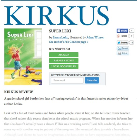 Kirkus loves SUPER LEXI!